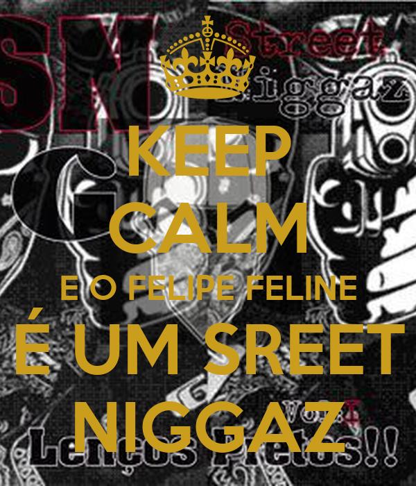 KEEP CALM E O FELIPE FELINE É UM SREET NIGGAZ