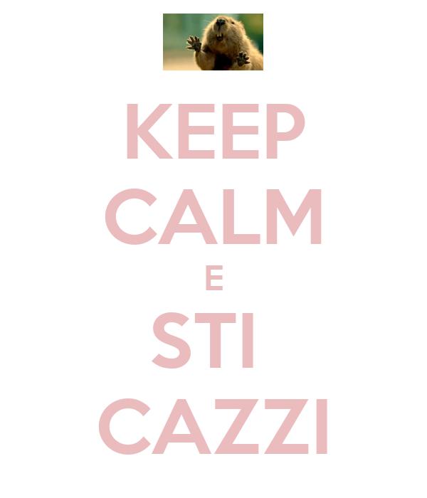 KEEP CALM E STI  CAZZI