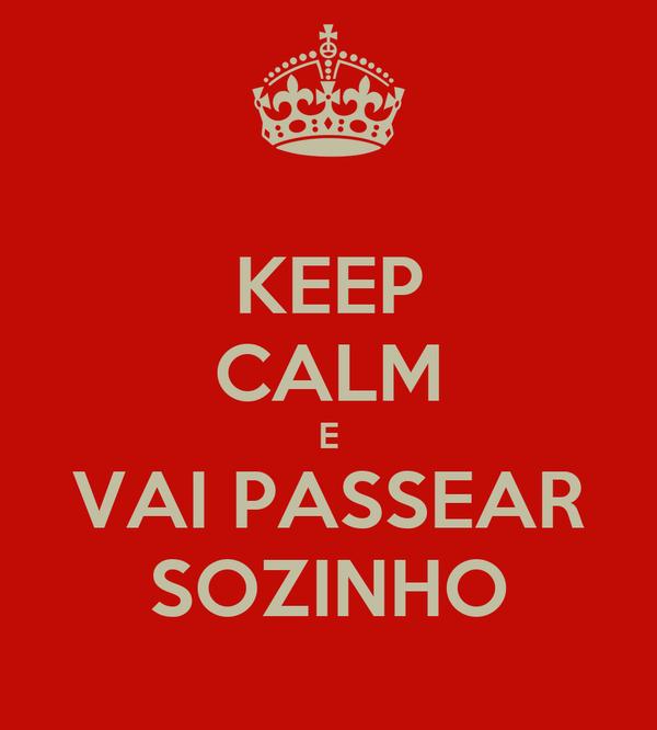 KEEP CALM E VAI PASSEAR SOZINHO