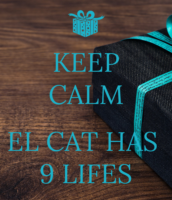 KEEP CALM  EL CAT HAS  9 LIFES