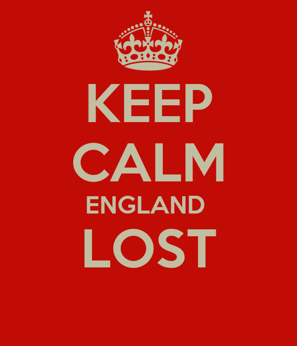 KEEP CALM ENGLAND  LOST
