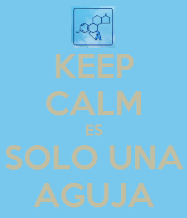 KEEP CALM ES SOLO UNA AGUJA
