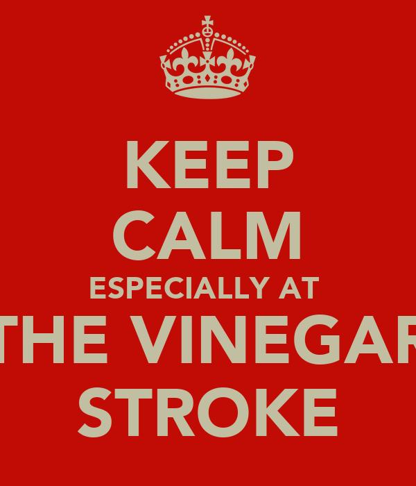 KEEP CALM ESPECIALLY AT  THE VINEGAR STROKE