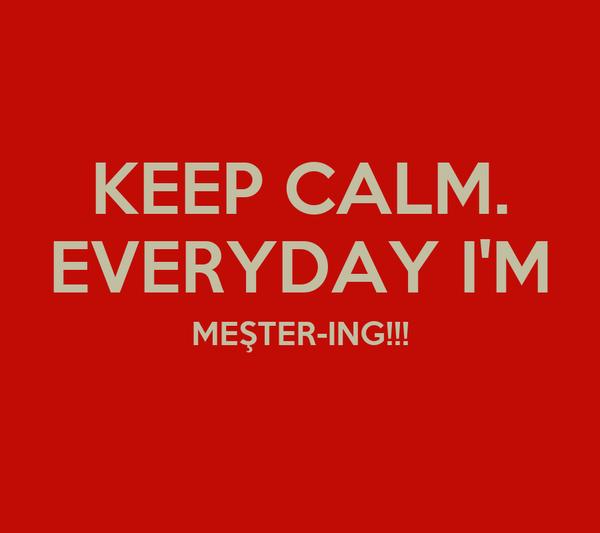 KEEP CALM. EVERYDAY I'M MEŞTER-ING!!!
