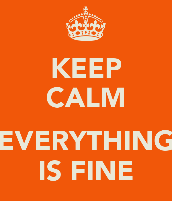 KEEP CALM  EVERYTHING IS FINE