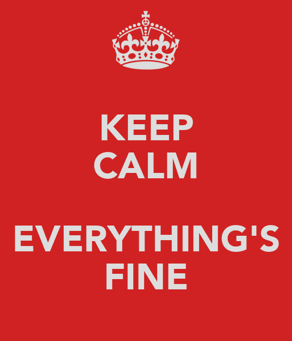 KEEP CALM  EVERYTHING'S FINE