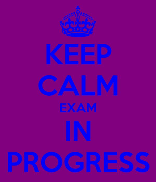 KEEP CALM EXAM IN PROGRESS