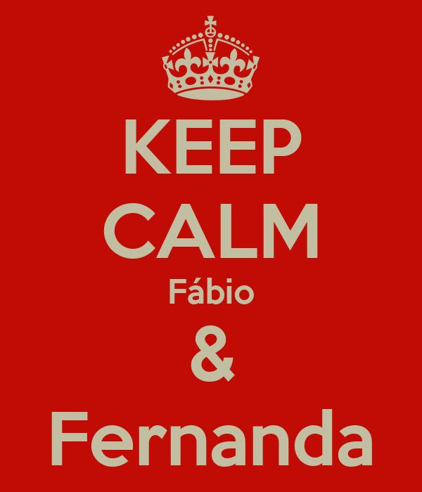KEEP CALM Fábio & Fernanda
