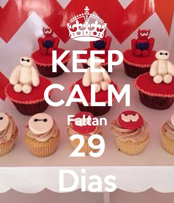 KEEP CALM Faltan 29 Dias
