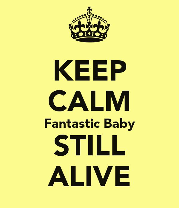 KEEP CALM Fantastic Baby STILL ALIVE