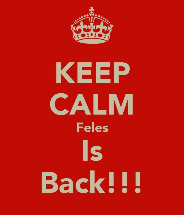 KEEP CALM Feles Is Back!!!