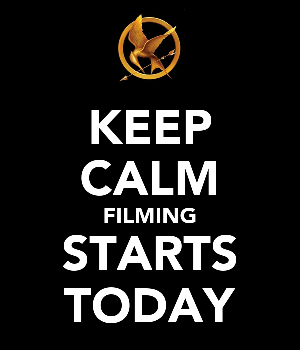 KEEP CALM FILMING STARTS TODAY