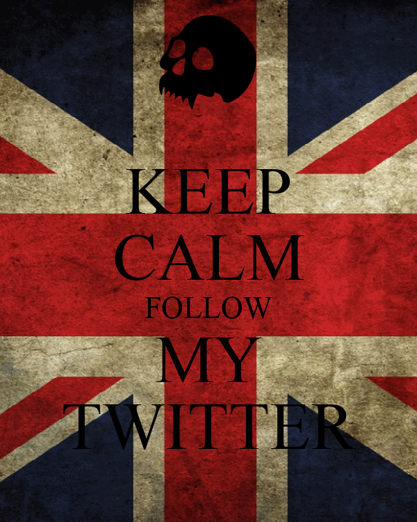 KEEP CALM FOLLOW MY TWITTER