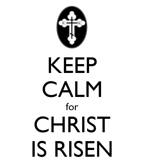 KEEP CALM for CHRIST IS RISEN