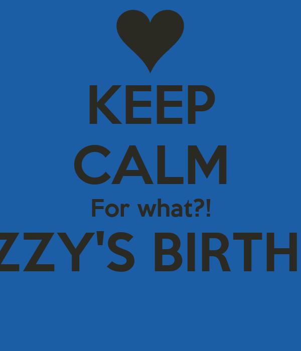 Izzys birthday