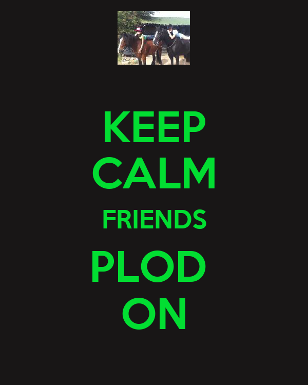 KEEP CALM FRIENDS PLOD  ON