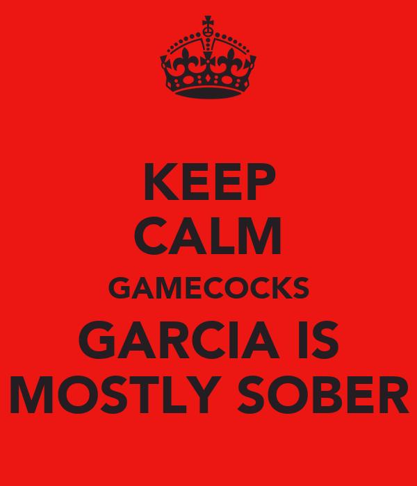 KEEP CALM GAMECOCKS GARCIA IS MOSTLY SOBER