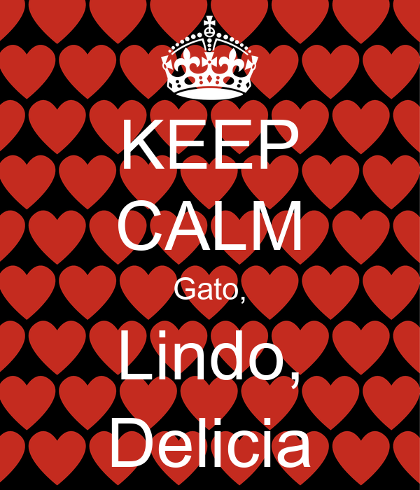 KEEP CALM Gato, Lindo, Delicia