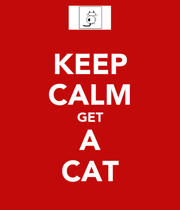 KEEP CALM GET A CAT