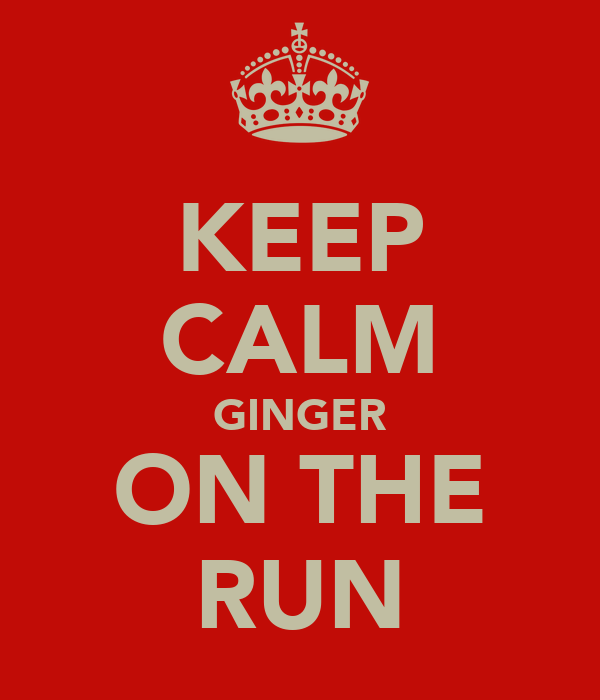 KEEP CALM GINGER ON THE RUN