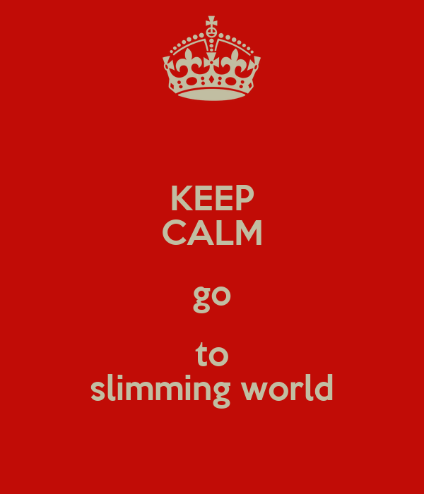 Keep calm go to slimming world poster dannyboy711 keep Where can i buy slimming world products