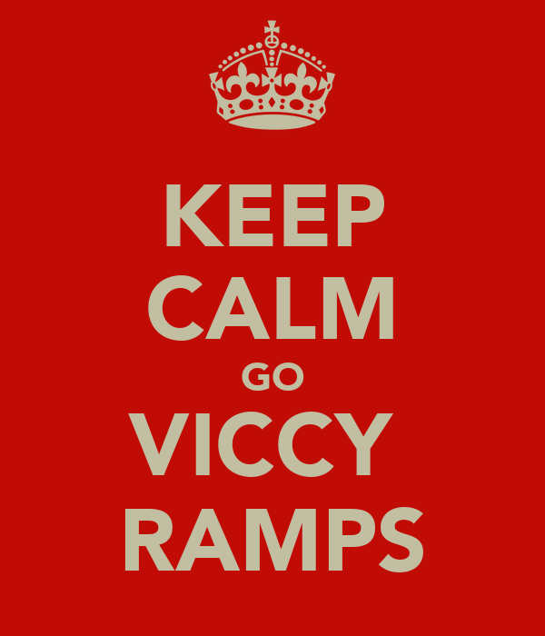 KEEP CALM GO VICCY  RAMPS