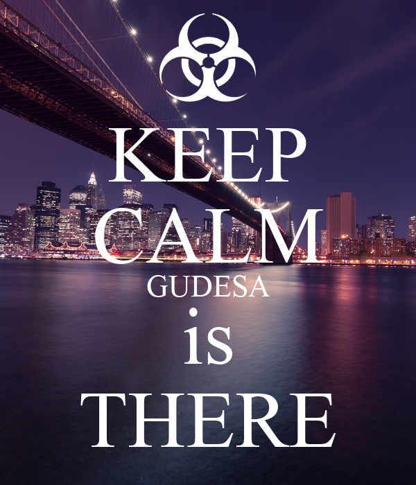 KEEP CALM GUDESA is THERE