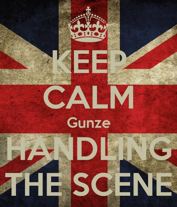 KEEP CALM Gunze HANDLING THE SCENE