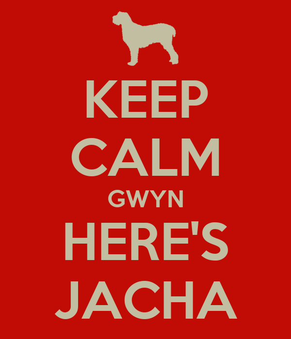 KEEP CALM GWYN HERE'S JACHA