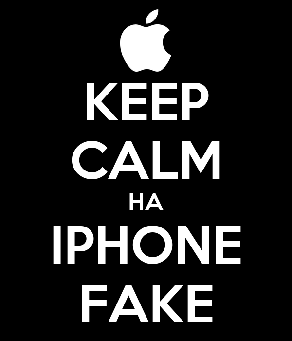 KEEP CALM HA IPHONE FAKE