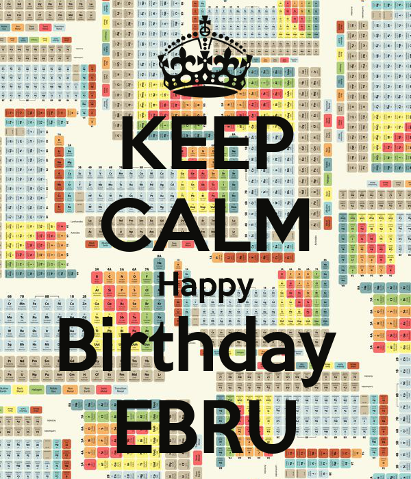 KEEP CALM Happy Birthday  EBRU