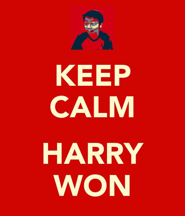 KEEP CALM  HARRY WON