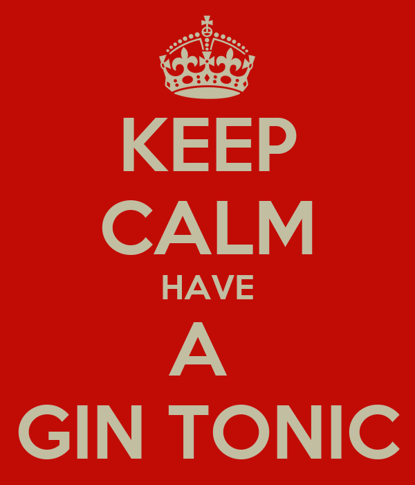 KEEP CALM HAVE A  GIN TONIC