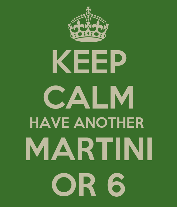 KEEP CALM HAVE ANOTHER  MARTINI OR 6