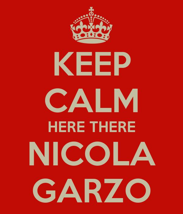 KEEP CALM HERE THERE NICOLA GARZO