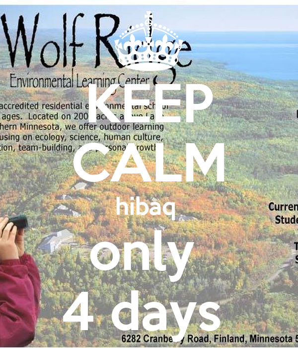 KEEP CALM hibaq  only  4 days
