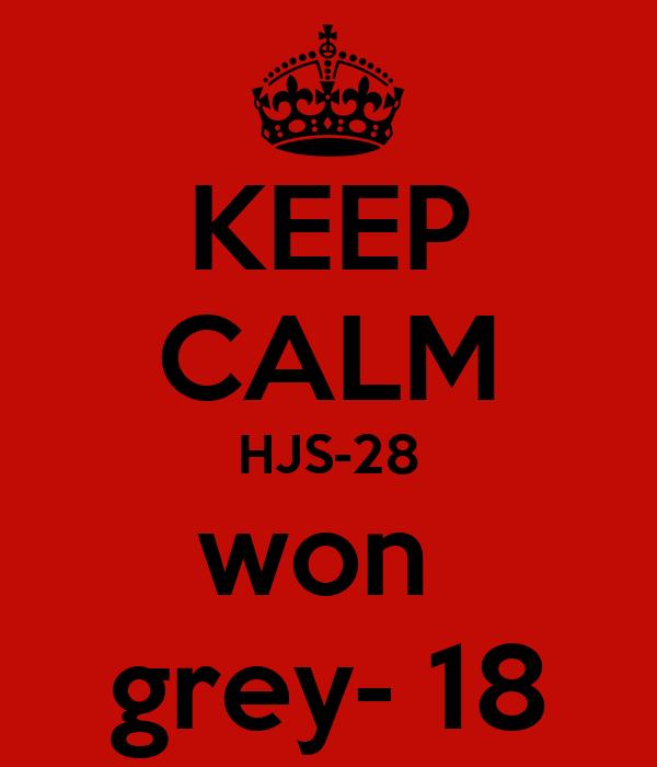 KEEP CALM HJS-28 won  grey- 18