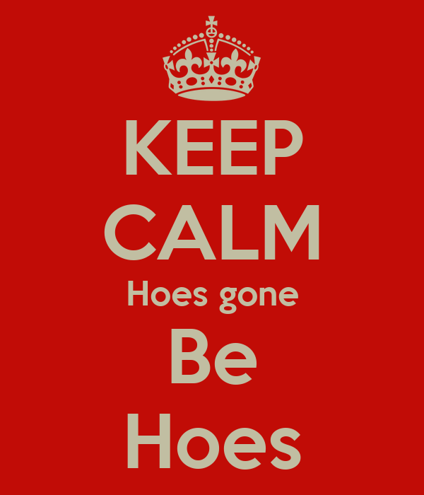 KEEP CALM Hoes gone Be Hoes