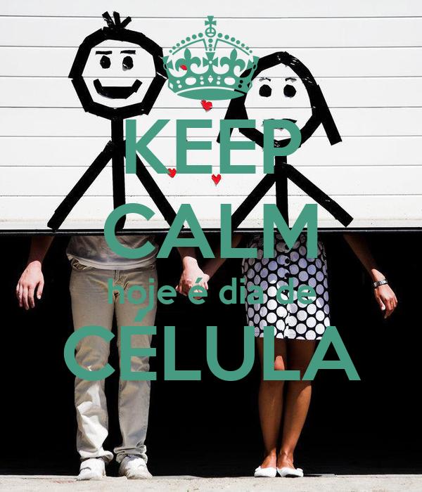KEEP CALM hoje é dia de CÉLULA