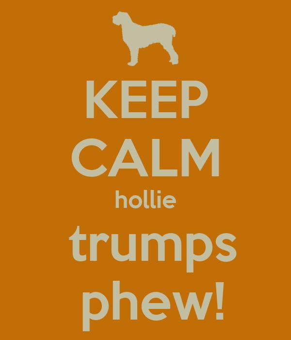 KEEP CALM hollie  trumps  phew!