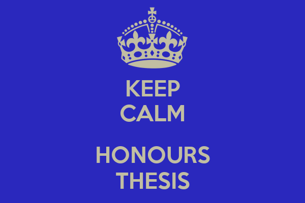 KEEP CALM  HONOURS THESIS