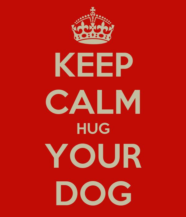 KEEP CALM HUG YOUR DOG
