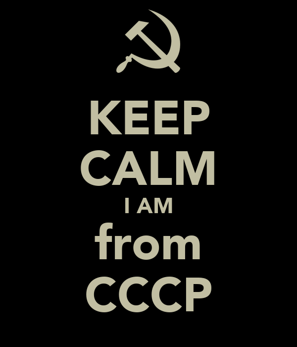KEEP CALM I AM from CCCP
