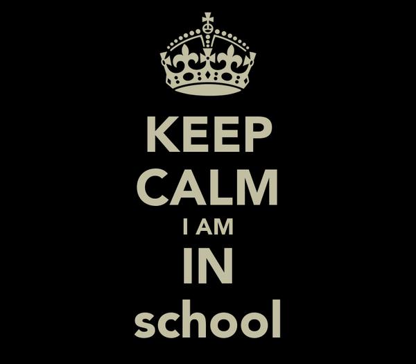 KEEP CALM I AM IN school