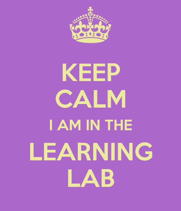 KEEP CALM I AM IN THE LEARNING LAB