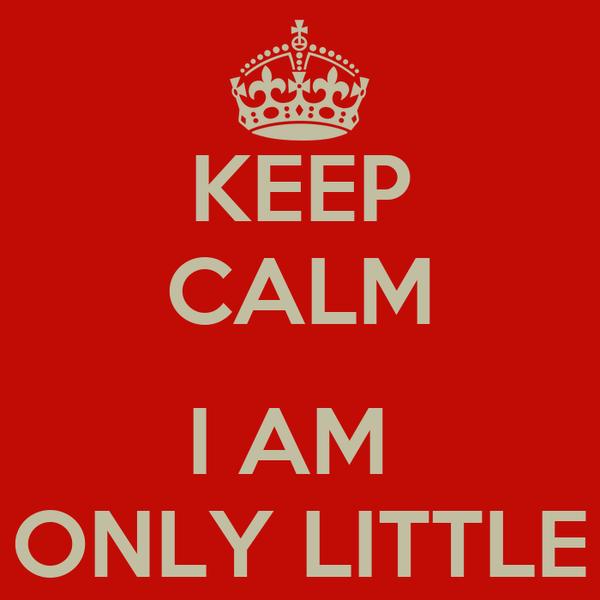 KEEP CALM  I AM  ONLY LITTLE