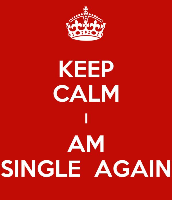 KEEP CALM I AM SINGLE  AGAIN