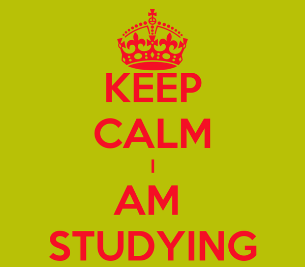 KEEP CALM I AM  STUDYING