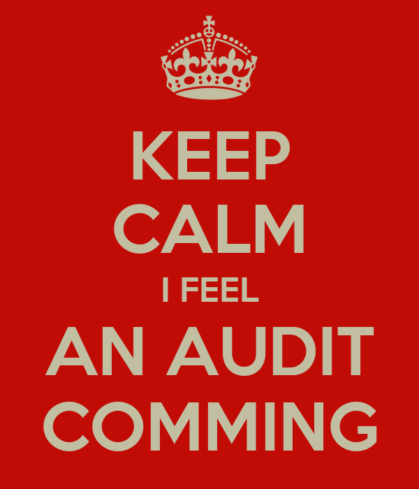 KEEP CALM I FEEL AN AUDIT COMMING