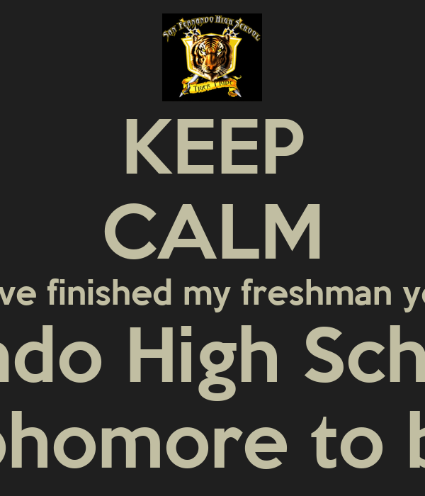 freshman year of high school essay Freshman to senior essays becoming a freshman in high school seemed to be the best thing that happened to me throughout all of my school years becoming a freshman.